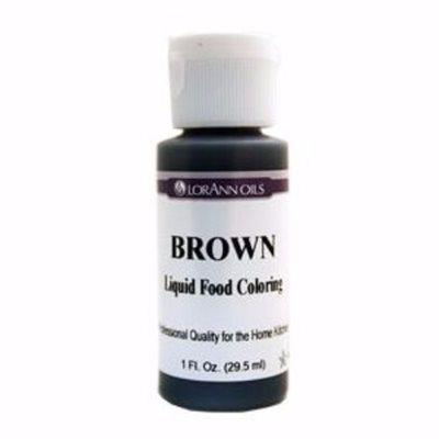 Brown Liquid Food Color 1  oz.