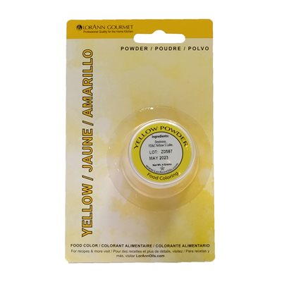 Yellow Powder Food Color 1 / 2  oz.