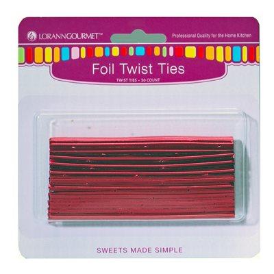 Twist Ties, Red 50 pack