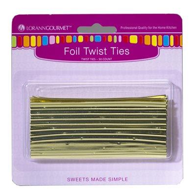 Twist Ties, Gold 50 pack