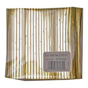 Twist Ties, Gold 2000 pack