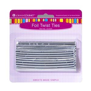 Twist Ties, Silver 50 pack