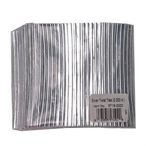 Twist Ties, Silver 2000 pack