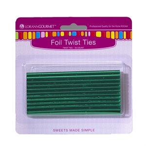 Twist Ties, Green 50 pack