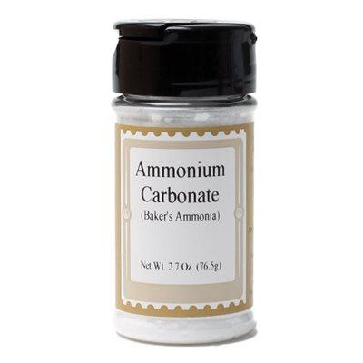 Baker's Ammonia (Ammonium Carbonate) 2.7  oz., jar