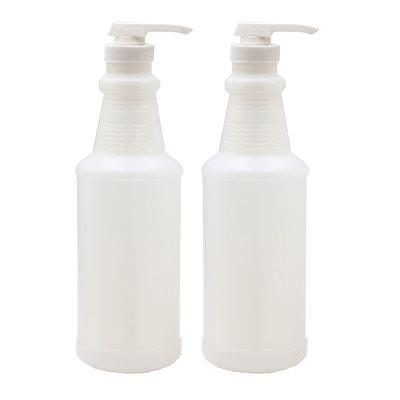 1 quart bottle with pump dispenser (2 pack)