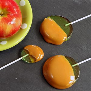 Caramel Coated Apple Suckers