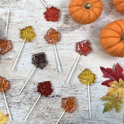 Maple Leaf Lollipops