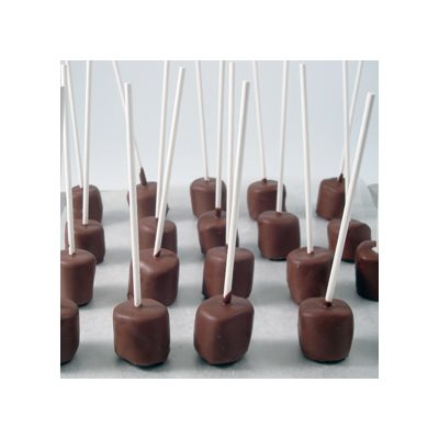 Minted Chocolate Marshmallow Pops