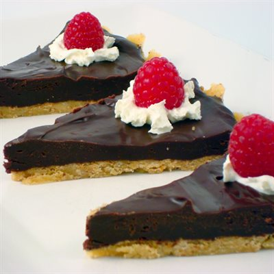 Chocolate Raspberry Truffle Tart