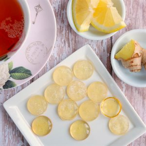 Natural Lemon & Ginger Sore Throat Lozenges