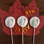 White Chocolate Thanskgiving Lollipops